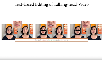 Text-based Editing of Talking-head Video
